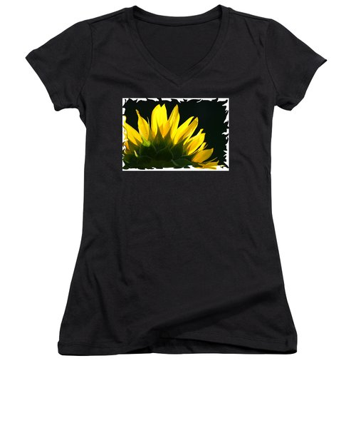 Wild Sunflower Women's V-Neck T-Shirt (Junior Cut) by Shari Jardina