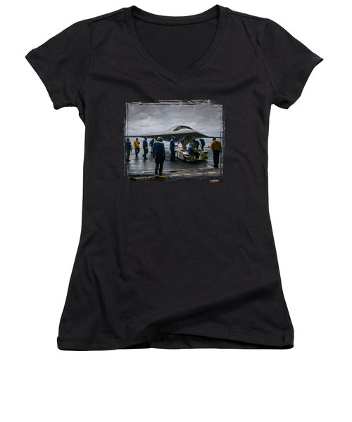 X-47b Uav Women's V-Neck T-Shirt