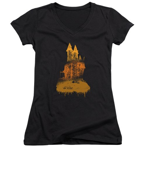 Paint Drips Women's V-Neck T-Shirt (Junior Cut) by Solomon Barroa