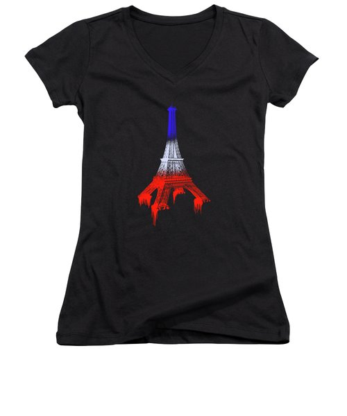 Paint Drips Women's V-Neck T-Shirt