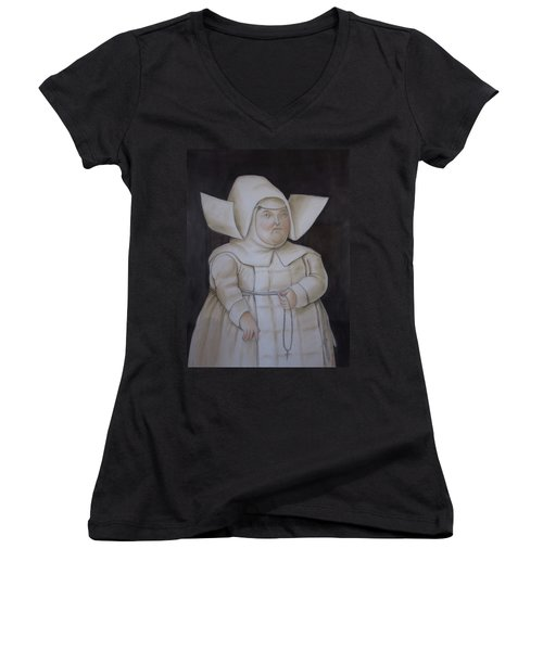 Bogota Museo Botero Women's V-Neck (Athletic Fit)