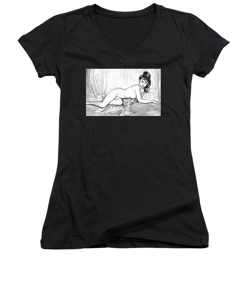 Pinup Women's V-Neck