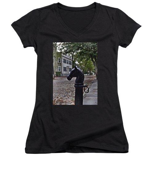 Hitching Post Women's V-Neck T-Shirt (Junior Cut)