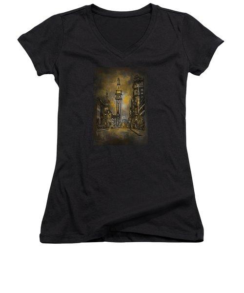 1910y Madison Avenue Ny. Women's V-Neck T-Shirt