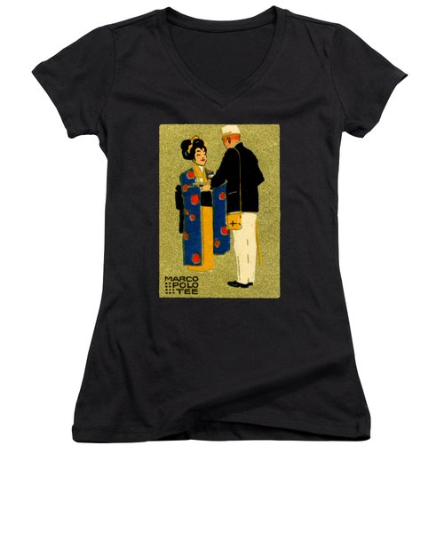 1915 Marco Polo Tea Women's V-Neck (Athletic Fit)