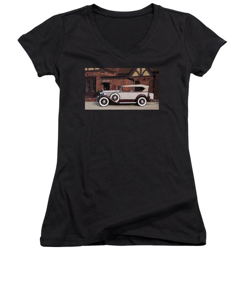 1930 Buick Phaeton Women's V-Neck (Athletic Fit)