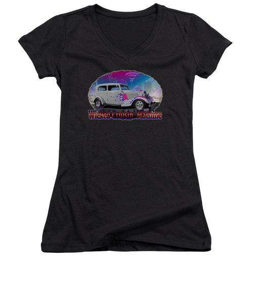 1934 Ford Delux Women's V-Neck