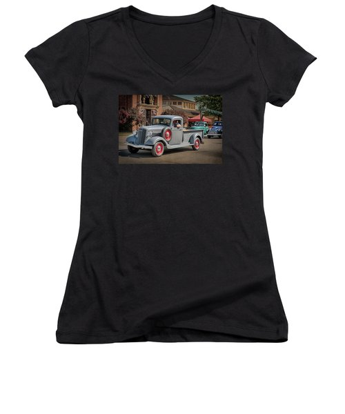 1936 Gmc T-14 Pickup  Women's V-Neck
