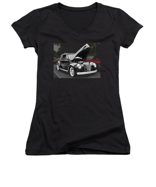 1940 Ford Deluxe Automobile Women's V-Neck