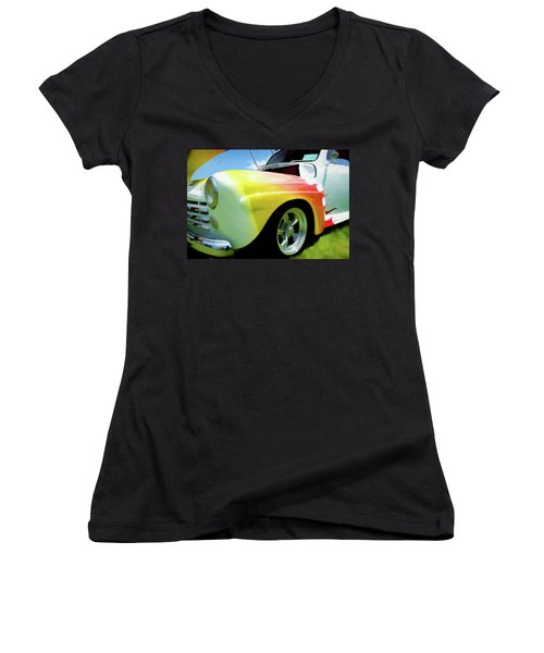 1947 Ford Coupe Women's V-Neck T-Shirt