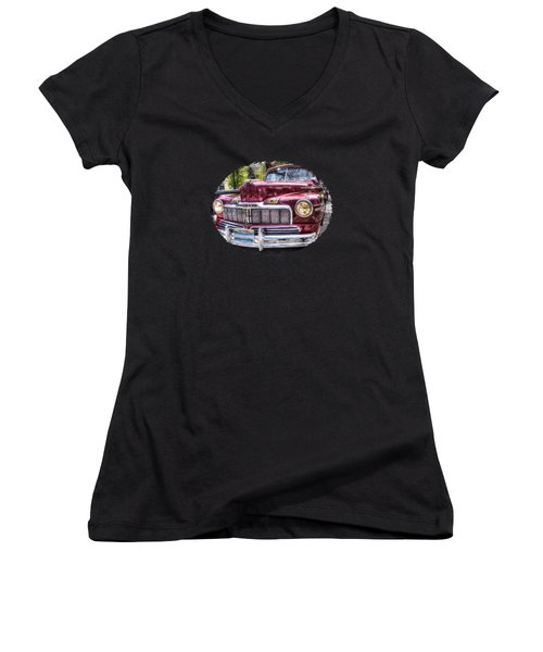 1948 Mercury Convertible Women's V-Neck (Athletic Fit)