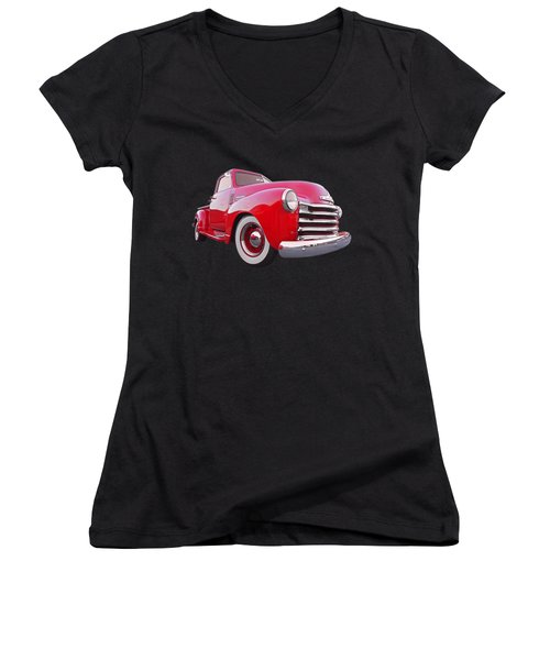1950 Chevy Pick Up At Sunset Women's V-Neck