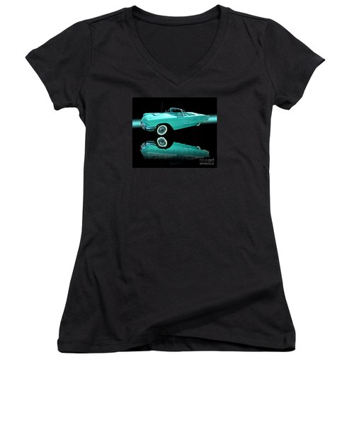1959 Ford Thunderbird Women's V-Neck T-Shirt