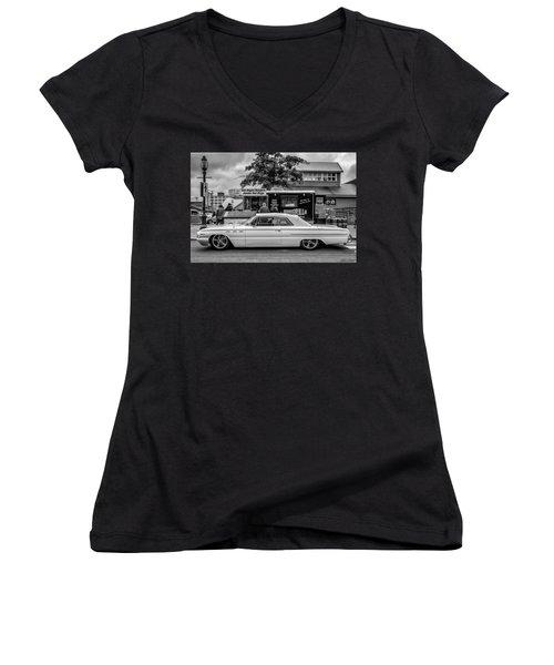 1962 Buick Women's V-Neck T-Shirt (Junior Cut) by Ken Morris