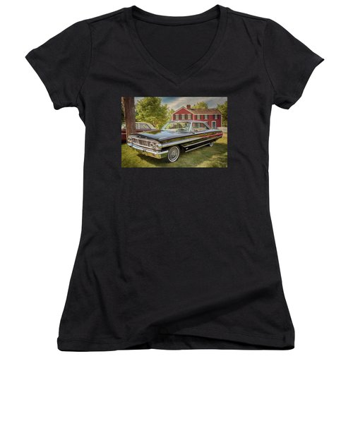 1964 Ford Galaxie 500 Xl Women's V-Neck