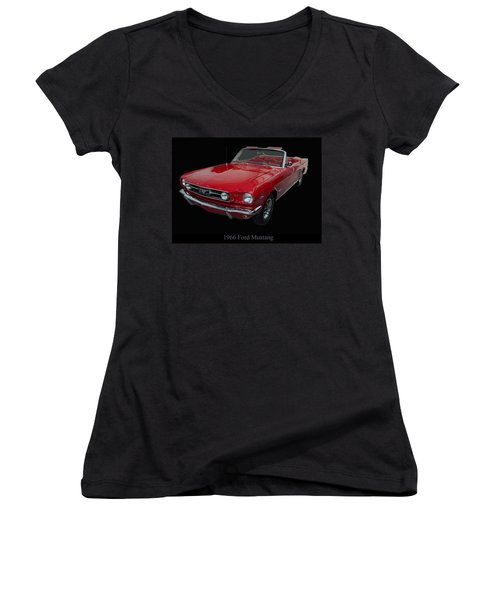 1966 Ford Mustang Convertible Women's V-Neck
