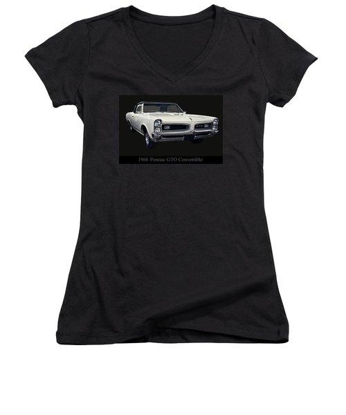 1966 Pontiac Gto Convertible Women's V-Neck