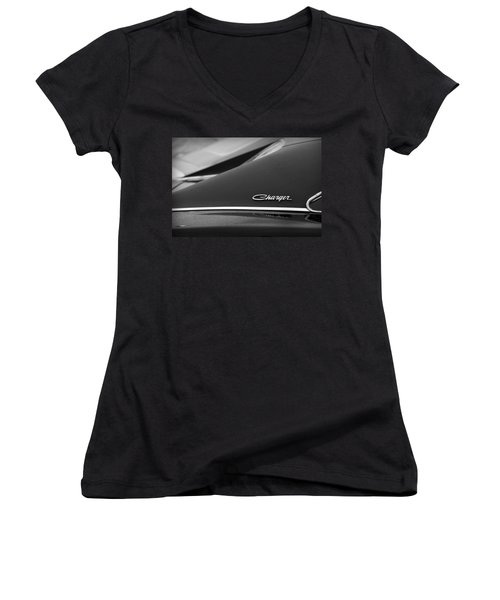 1968 Dodge Charger Women's V-Neck (Athletic Fit)
