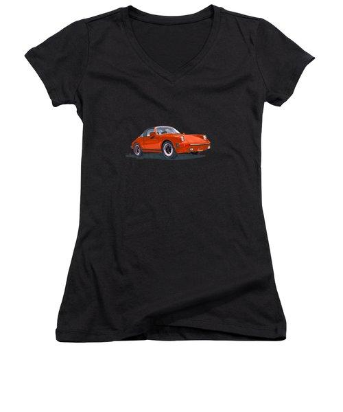 1968 Porsche 911 Targa Tee Women's V-Neck T-Shirt
