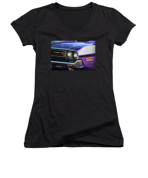 1970 Dodge Challenger Rt 440 Magnum Women's V-Neck (Athletic Fit)
