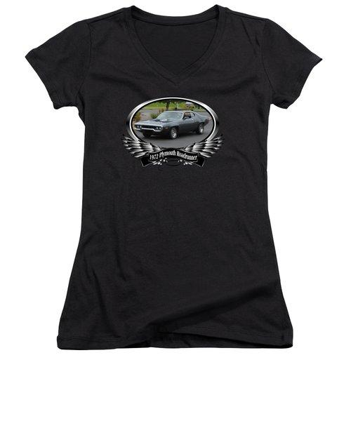 1972 Plymouth Roadrunner Grow Women's V-Neck T-Shirt