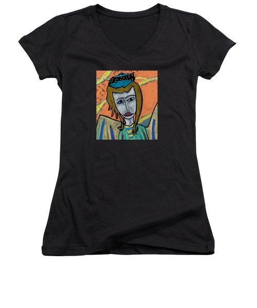 Archangel Uriel Women's V-Neck T-Shirt