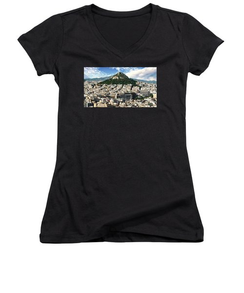 Athens Panorama Women's V-Neck