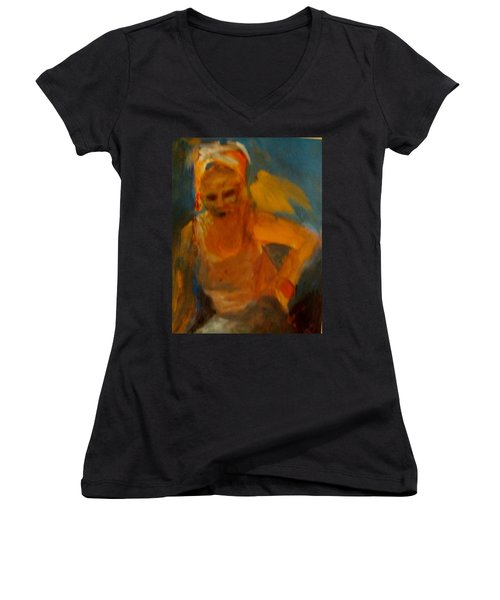 Bird On My Shoulder Women's V-Neck T-Shirt