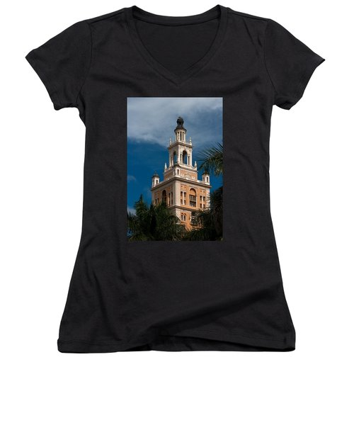 Coral Gables Biltmore Hotel Tower Women's V-Neck (Athletic Fit)
