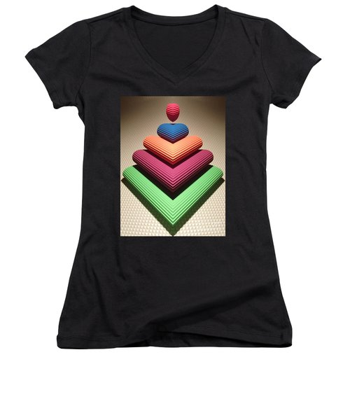 Women's V-Neck T-Shirt (Junior Cut) featuring the photograph Floating by Trena Mara