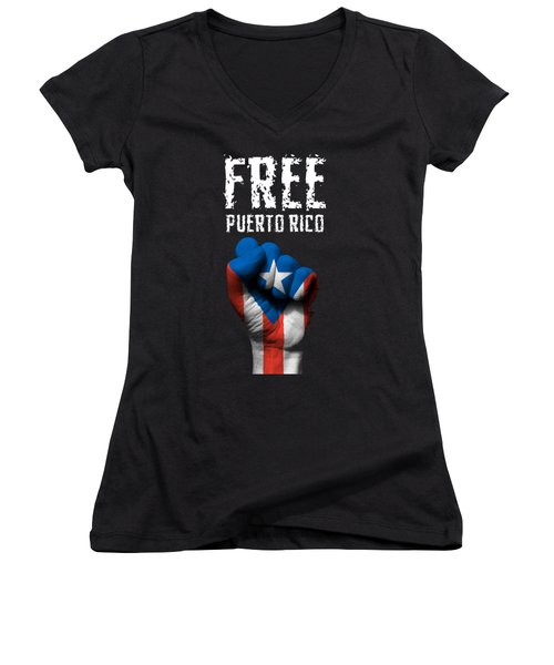 Free Puerto Rico Women's V-Neck