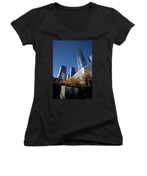 Freedom Tower Women's V-Neck (Athletic Fit)