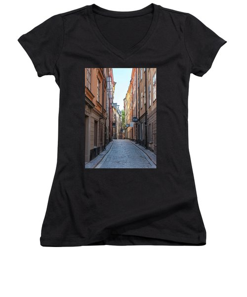 Gamla Stan Women's V-Neck T-Shirt