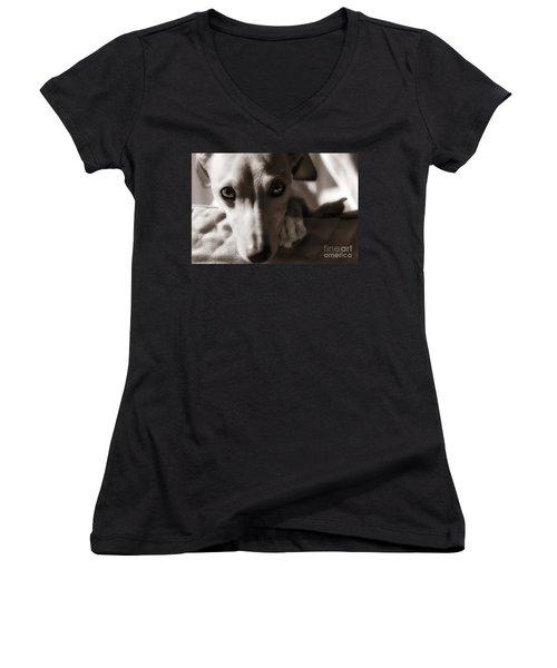 Heart You Women's V-Neck T-Shirt (Junior Cut) by Angela Rath