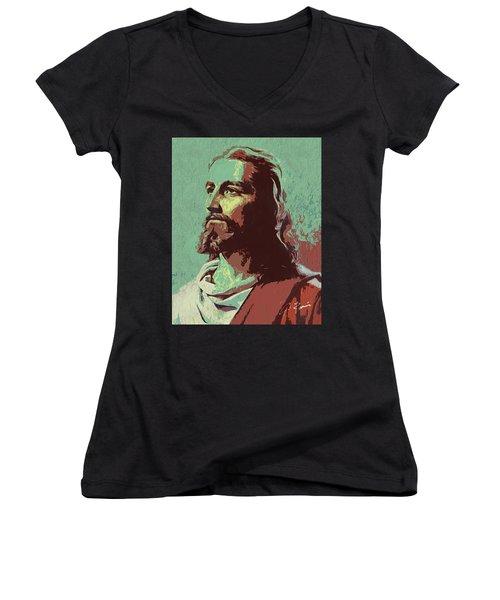 Jesus Women's V-Neck (Athletic Fit)