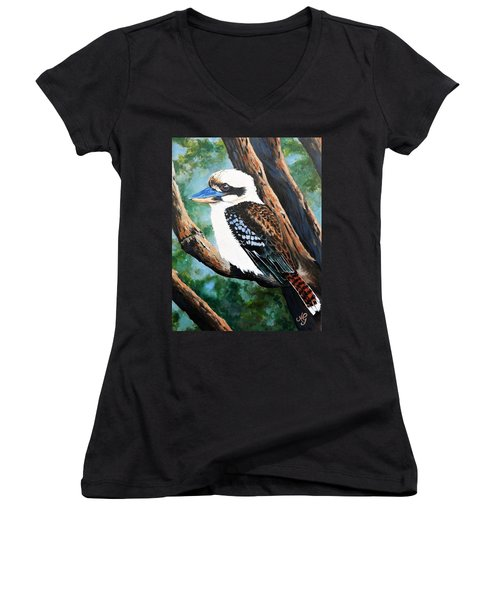 Kookaburra Women's V-Neck T-Shirt