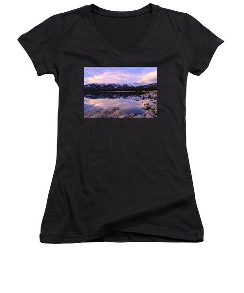 Lake Tahoe Rocks  Women's V-Neck