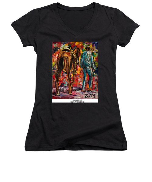 2 Old Pros Women's V-Neck T-Shirt