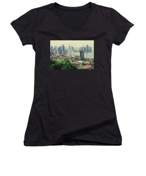 Panama City Women's V-Neck T-Shirt