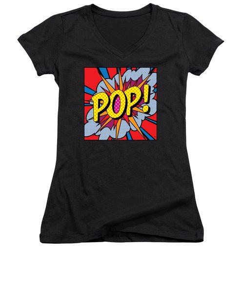 Pop Art - 4 Women's V-Neck