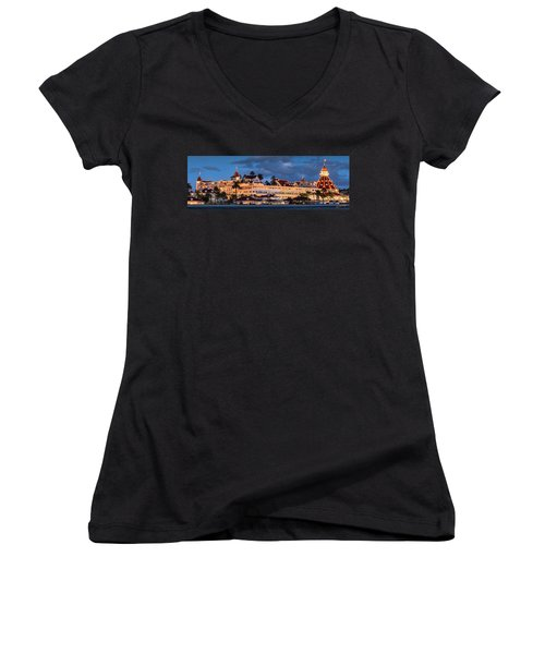 Women's V-Neck (Athletic Fit) featuring the photograph Pure And Simple Pano 60x20 by Dan McGeorge