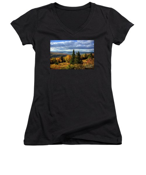Rangeley Overlook Women's V-Neck (Athletic Fit)