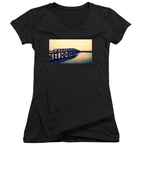 Sandwich Boardwalk Women's V-Neck T-Shirt
