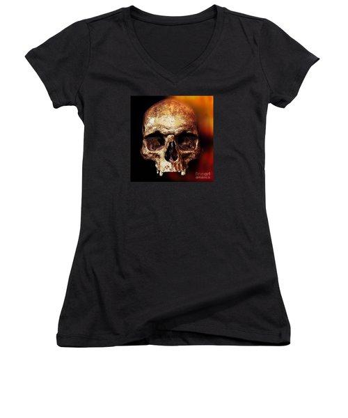 Skull Women's V-Neck