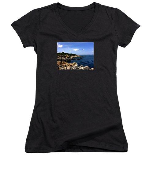 Sea Coast Maine... Women's V-Neck T-Shirt