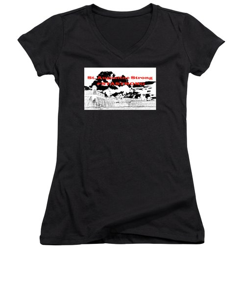 #stastrong Women's V-Neck (Athletic Fit)