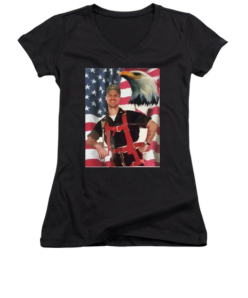 Texas Hero Women's V-Neck T-Shirt