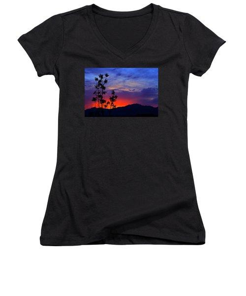 Wasatch Sunrise Women's V-Neck T-Shirt