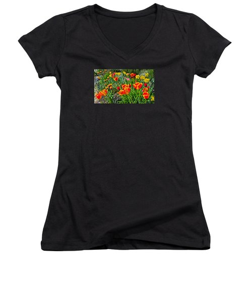 2015 Acewood Tulips 1 Women's V-Neck (Athletic Fit)