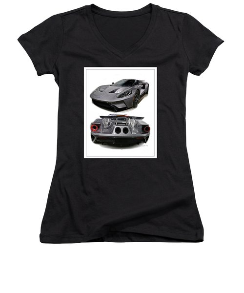 2016 Ford Gt Women's V-Neck (Athletic Fit)
